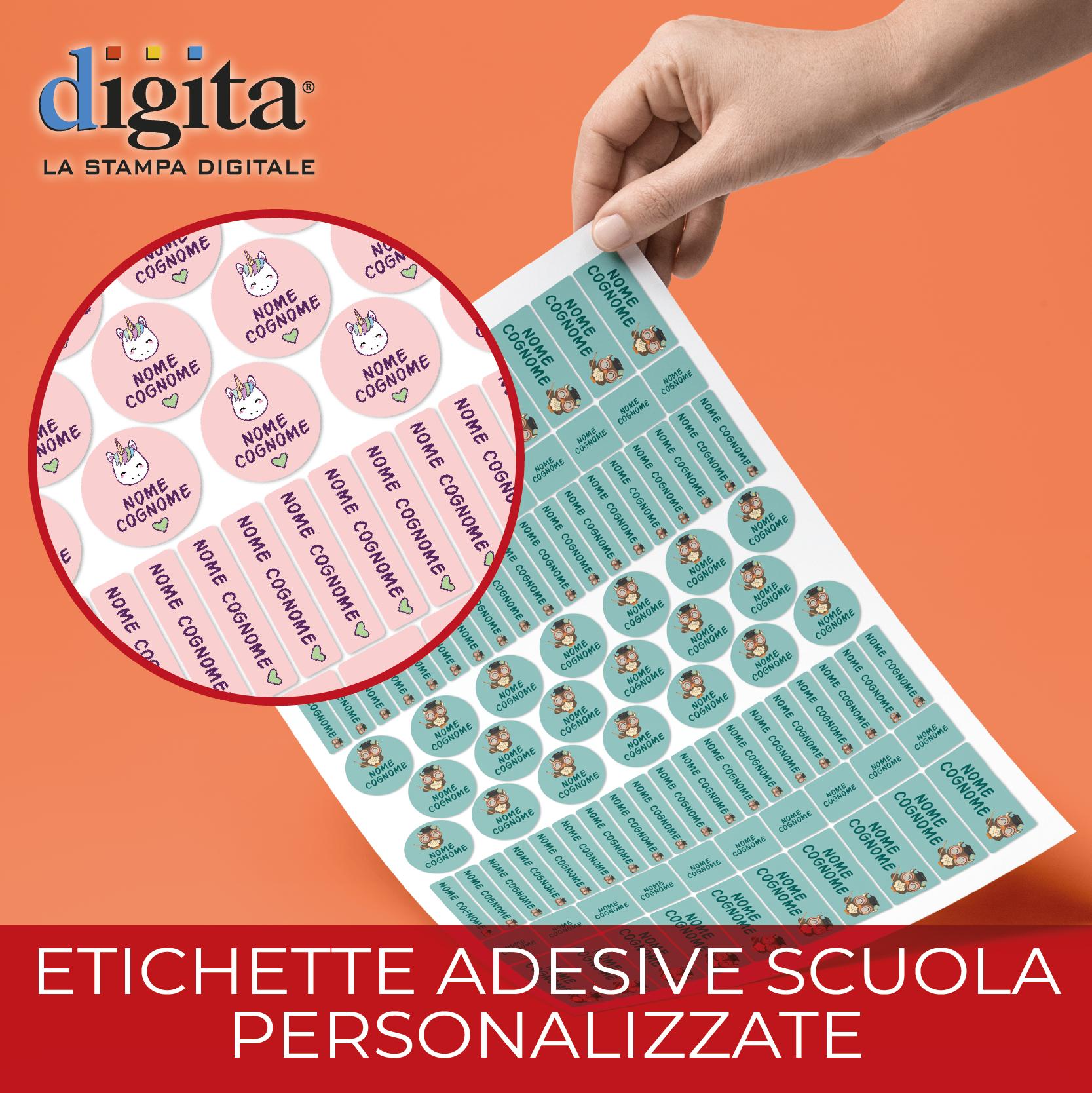 Etichette adesive fustellate