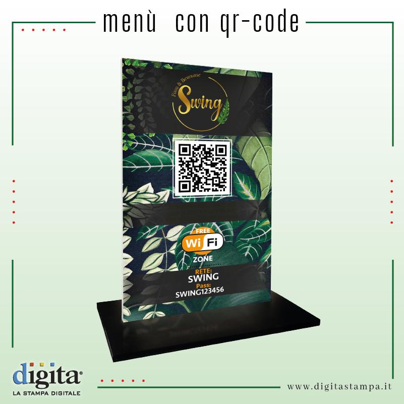 Menù con QR-code